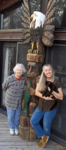 Mom, Totem Pole, Holly & Lucky